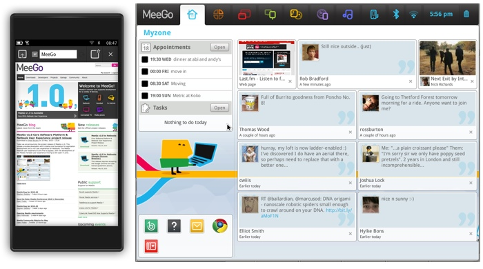 MeeGo Handset Day1 Developer Preview and MeeGo v1.0 for Netbooks
