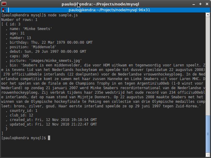 Accediendo a MySQL con node.js