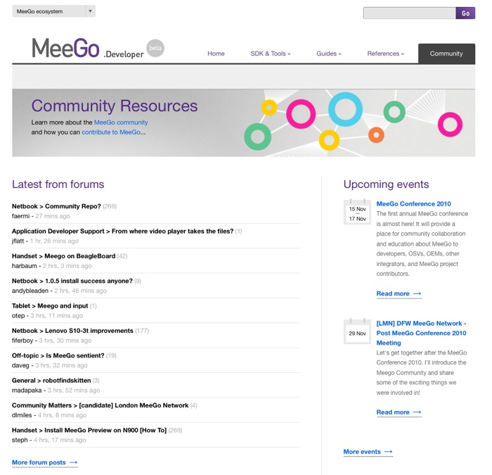 developers.meego.com  - Community Resources