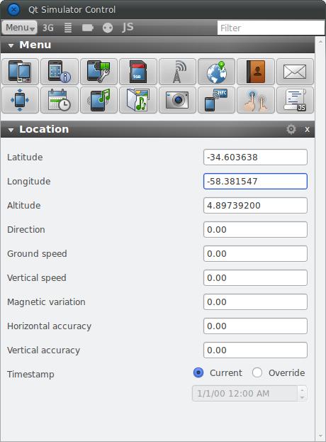 QML & Maps - Qt Simulator
