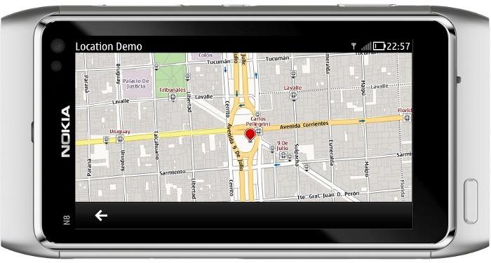 QML & Maps - Qt Mobility Sample