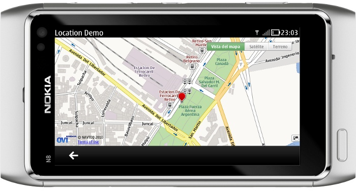 QML & Maps - QtWebKit + Nokia Maps Sample