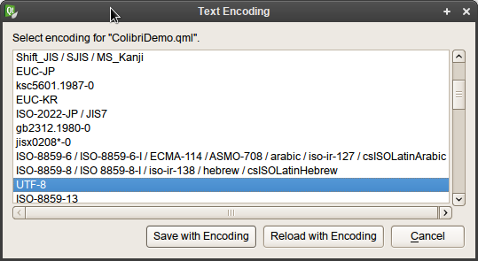 Select Encoding