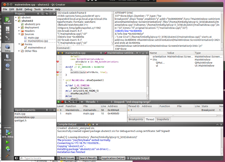 Symbian Qt SDK for Linux